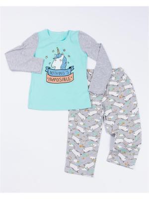 Пижама Mark Formelle. Цвет: бирюзовый, серый