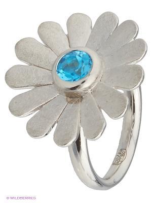 Кольцо Митра Ювелир. Цвет: голубой, серебристый