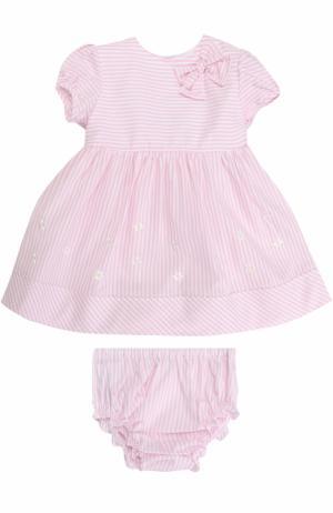 Хлопковый комплект с принтом из платья и трусов Aletta. Цвет: розовый