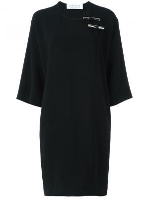 Платье свободного кроя Gianluca Capannolo. Цвет: чёрный