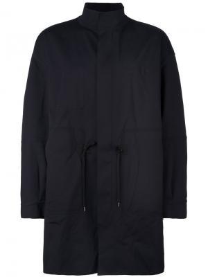Свободное пальто Ahirain. Цвет: чёрный
