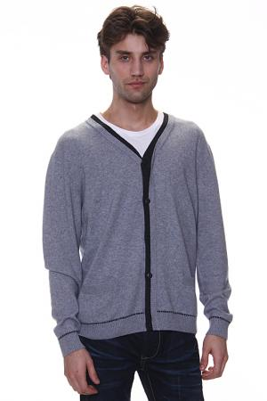 Кардиган с карманами Expression. Цвет: серый