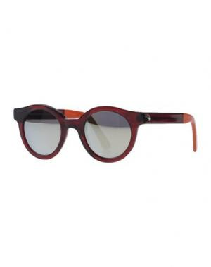 Солнечные очки SHERIFF & CHERRY. Цвет: красно-коричневый