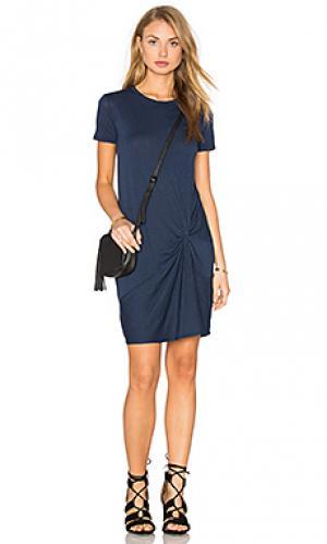 Мини платье с узлом Stateside. Цвет: синий