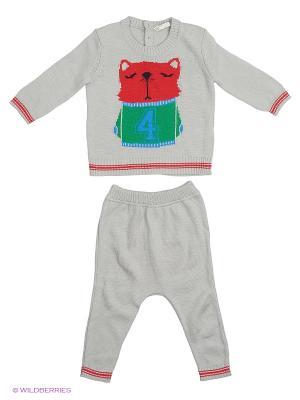 Свитер, брюки United Colors of Benetton. Цвет: черный, серый