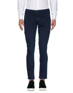Повседневные брюки JULIAN KEEN. Цвет: темно-синий