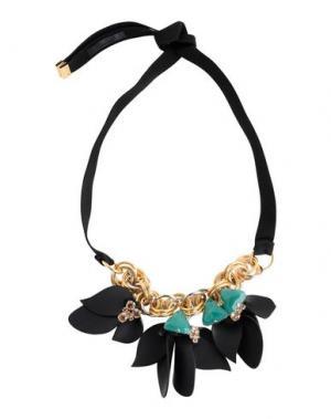 Ожерелье MARNI. Цвет: изумрудно-зеленый