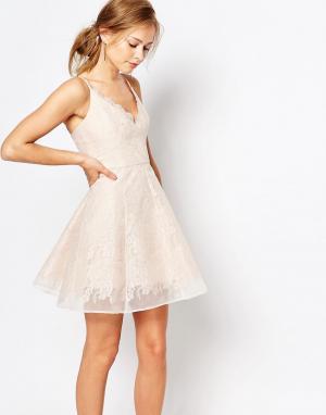 Keepsake Кружевное платье мини. Цвет: розовый