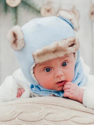 Комплект шапка и  шарф DEMBOHOUSE. Цвет: голубой