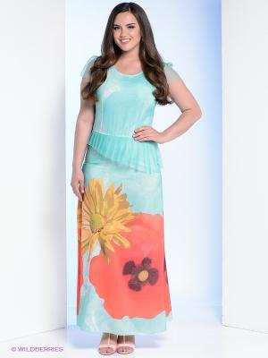 Платье Milana Style. Цвет: голубой