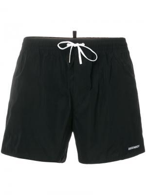 Пляжные шорты Dsquared2. Цвет: чёрный