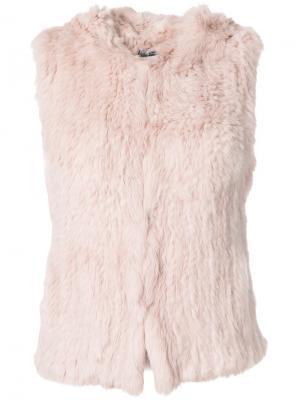 Фактурный жилет Yves Salomon Accessories. Цвет: розовый и фиолетовый