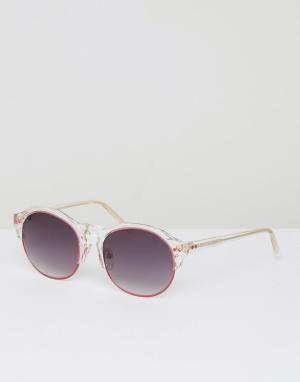 Matthew Williamson Розовые солнцезащитные очки. Цвет: красный