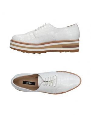 Обувь на шнурках ZINDA. Цвет: слоновая кость