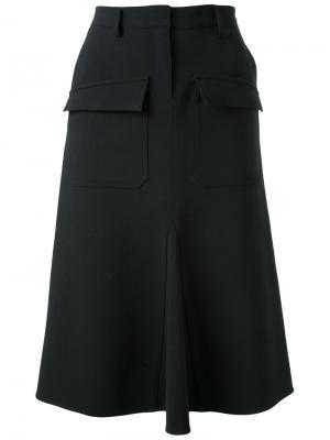 Юбка с накладными карманами Fad Three. Цвет: чёрный