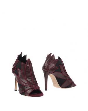 Полусапоги и высокие ботинки CHRISSIE MORRIS. Цвет: баклажанный