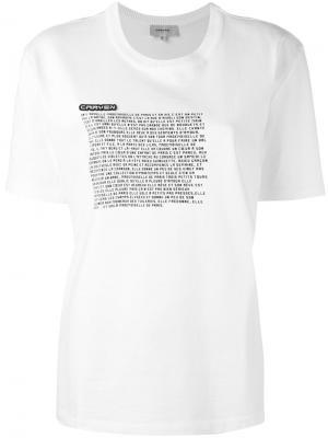 Graphic print T-shirt Carven. Цвет: белый