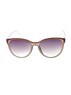 Солнцезащитные очки, iq format. Цвет: коричневый, белый, золотистый