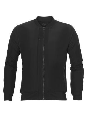 Куртка бомбер fuzeX BOMBER JACKET ASICS. Цвет: черный