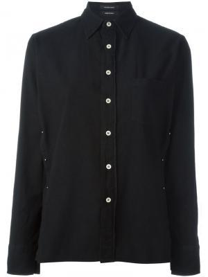 Рубашка с булавкой R13. Цвет: чёрный