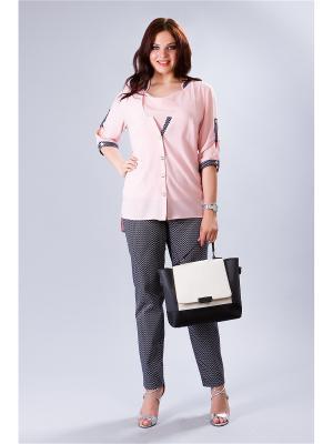 Блузка MILORI. Цвет: бледно-розовый