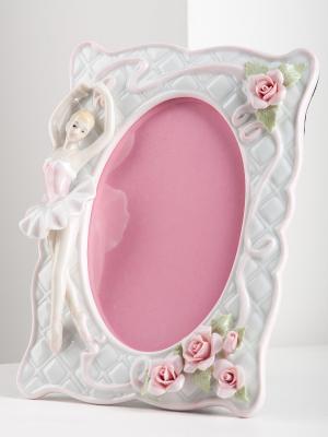 Фоторамка Балерина Pavone. Цвет: белый, розовый