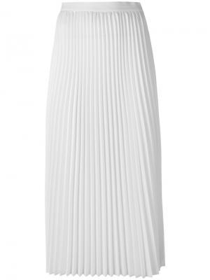 Плиссированная юбка миди 08Sircus. Цвет: белый