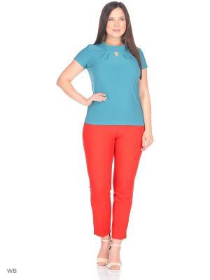 Блузка KATERINA. Цвет: лазурный
