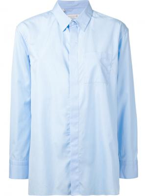 Классическая рубашка бойфренда Mackintosh. Цвет: синий