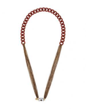 Ожерелье NUR. Цвет: кирпично-красный