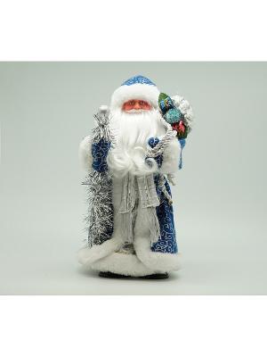 Фигурка декоративная Дед мороз 30см синий Яркий Праздник. Цвет: синий