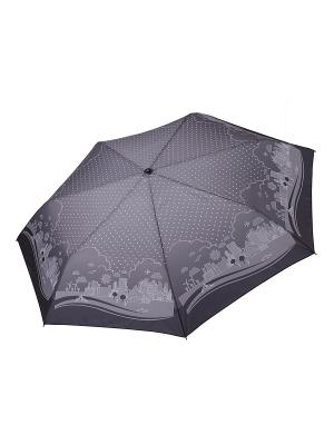 Зонт Fabretti. Цвет: темно-серый