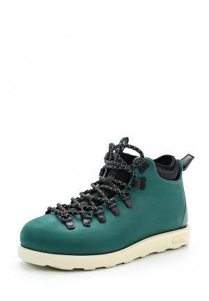 Ботинки Native. Цвет: зеленый