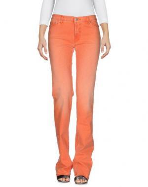 Джинсовые брюки BLU BYBLOS. Цвет: оранжевый