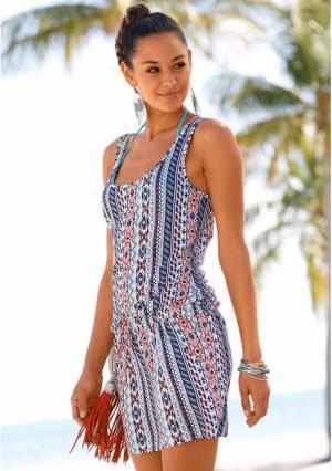 Пляжное платье VENICE BEACH. Цвет: белый/темно-синий/оранжевый