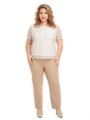 Блуза Орнелла Царевна. Цвет: бежевый