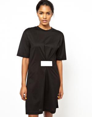 Платье-футболка с липучками BACK by Ann-Sofie. Цвет: черный