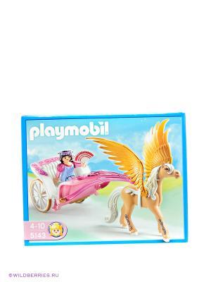 Игровой набор Повозка запряженная Пегасом Playmobil. Цвет: оранжевый, белый, розовый