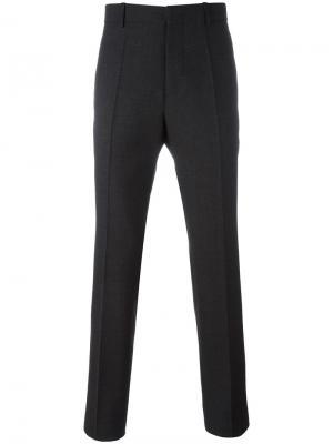 Классические брюки прямого кроя Marni. Цвет: серый