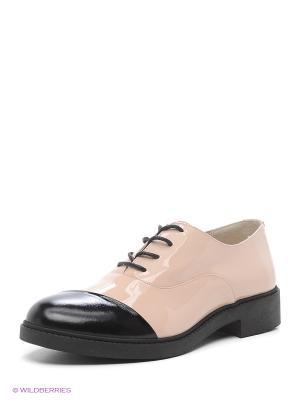 Туфли HCS. Цвет: бежевый, черный