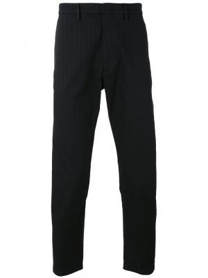 Полосатые классические брюки Pence. Цвет: чёрный