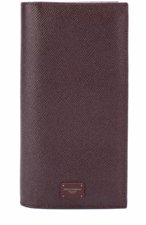 Кожаный бумажник с отделениями для кредитных карт и монет Dolce & Gabbana. Цвет: бордовый