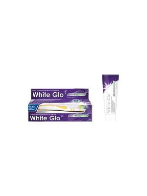Зубная паста  отбеливающая 2 в 1 White Glo. Цвет: фиолетовый