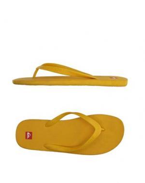 Вьетнамки QUIKSILVER. Цвет: желтый