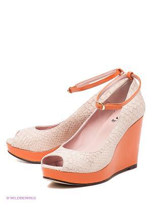 Туфли Si by Sinela. Цвет: оранжевый, светло-бежевый