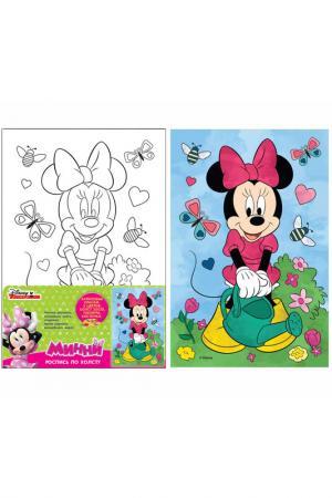 Роспись «Минни» Disney минни. Цвет: голубой