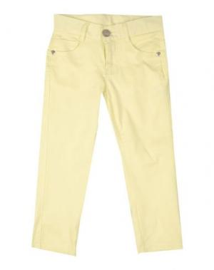 Повседневные брюки MASH KISS. Цвет: светло-желтый