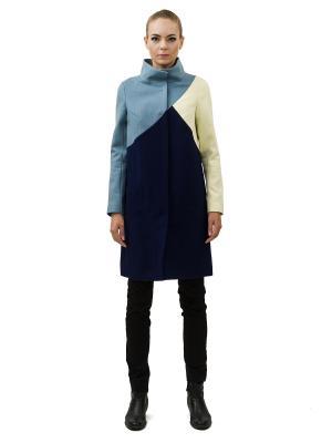 Пальто DOCTOR E. Цвет: синий, голубой, желтый