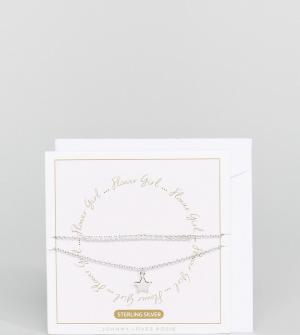 Johnny Loves Rosie Подарочный набор браслетов. Цвет: серебряный