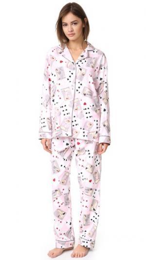 Пижама Card Night от PJ Salvage. Цвет: розовый